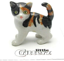 ➸ LITTLE CRITTERZ Cat Miniature Figurine Calico Cat Kitten Holly