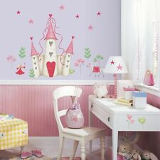 New PRINCESS CASTLE WALL DECALS Hearts & Stars Stickers Girls Pink Bedroom Decor