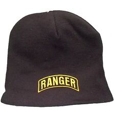 "Officially Licensed US Army Ranger 8"" Knit Cap 198K8-BLK"