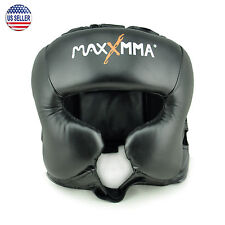 MaxxMMA Headgear Black L/XL, Boxing, MMA, Protector, Helmet, Guard, Sparring