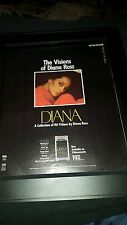 Diana Ross The Visions Video Collection Rare Original Promo Poster Ad Framed!