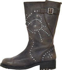 N029 ASH BOTTES MOTARD CLOUTEES T. 37 UK 4  VALEUR 370 €