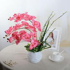 Artificial Silk Flower Butterfly Orchid Wedding Home Decor Phalaenopsis Bouquet