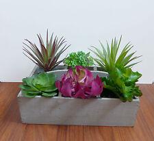 6 Succulent Mini Plants Artificial Plastic Potted Wedding Decoration
