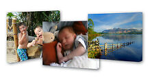 "SET OF 3 CANVAS FRAMES 9""X12"" YOUR PERSONALISED PHOTO PICTURES FAMILY BIRTHDAY"
