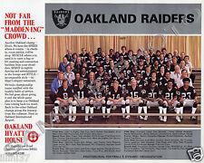 1977 OAKLAND RAIDERS FOOTBALL TEAM 8X10 PHOTO KEN STABLER