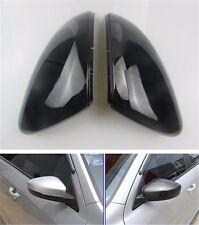 2pcs BLACK Rearview Wing Mirror Replace Cover For VW Golf 7 Mk7 GTI GTD R 2013+
