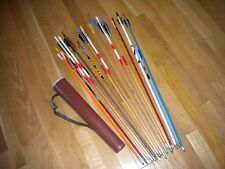 Vintage Archery Quiver and Arrows for Recurve Bow