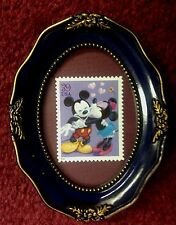 FRAMED MICKEY MOUSE AND MINNIE MOUSE UNUSED U.S. POSTAGE STAMP