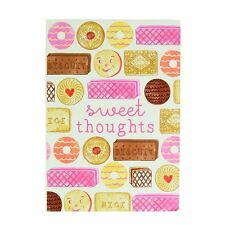 Sass and Belle A5 sized Notebook - Sweet Thoughts Biscuit design, Plain paper