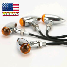 4pcs Chrome Heavy Duty Motorcycle Bullet Turn Signals Indicators Blinkers Lights