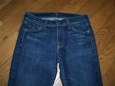 WOMENS 7 FOR ALL MANKIND FLARE JEANS 27 X 29 STRETCH GREAT LOOK USA