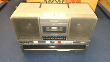 PANASONIC SG-J500 Vintage 80's BOOMBOX AM/FM Cassette w/ Record Player WORKS!!