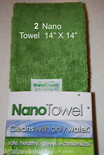 2 Nano Towels New Fabric Technology Cleans with Only Water Safe Economical GREEN