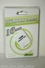 ACCESSORIO MEMORY CARD COMPATIBILE 16 MB 251 BLOCCHI NUOVO GEMECUBE & WII