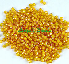 11/0 TOHO Treasures Glass Seed Beads #949- Jonquil/Opaque Yellow Lined