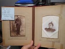 Antique Cabinet Photo Album Picture Ashland Ohio RICKEL MAY MYERS Family Named