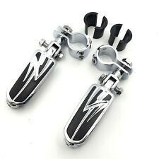 """1"""" 1 1/4"""" Highway Radical Flame Foot Pegs Clamps For Harley Sportster 883 1340"""