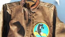 A-2 Leather Jacket Vintage 455th Bombardment Group Vulgar Vultures