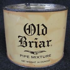 Vintage OLD BRIAR Pipe Tobacco Advertising Tin w/ Lev-A-Lift (AB325)