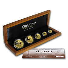 2015 Mexico 5-Coin Gold Libertad Proof Set (1.9 oz, Wood Box) - SKU #91811