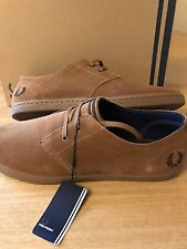 Fred Perry Byron Tan Suede Shoe - Size 8
