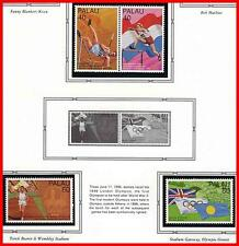 PALAU 1996 OLYMPIC GAMES + M/S MNH GYMNASTICS, BASKETBALL