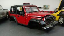 2014 JEEP WRANGLER WILLYS RED 1:18 DIECAST MODEL CAR 4x4 parts junk yard Find