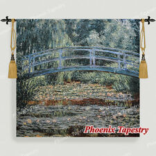 """SMALL Claude Monet The Japanese Bridge Tapestry Wall Hanging, 29""""x27"""", US"""