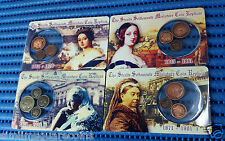The Straits Settlements Miniature Coin Replicas by Singapore Mint: Lot of 4 Sets