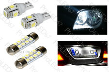 4 light bulbs LED Lights of plate + Night lights white for Renault Scenic 1
