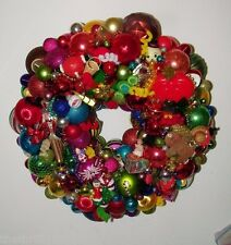Vintage Christmas ornament wreath 18 Inch Multi Color Germany 16439 Shiny Brite