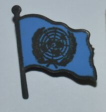 UN United Nations very old vintage political lapel enamel flag pin badge rare