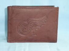 DETROIT RED WINGS   Leather BiFold Wallet    NEW   dkb4 mz ins sb