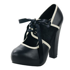 T.U.K. HOLLYWOOD HEEL VICTORIAN SPIRIT CORSET SHOES  Ladies Size UK5/EU38 A8404L