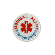 Iron on and Sew On Embroidered Patch Medical Alert FIBROMYALGIA