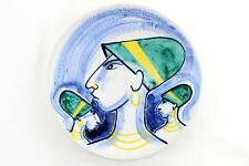 A 1950's handpainted Mette Doller bowl for Hoganas. Mid century. Rare
