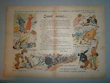 Gravure couleur Poéme de Pierre l'Ermite sur la guerre