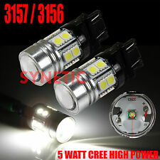 2X 3157/3156 High Power Cree+SMD 6000K White LED Brake Stop Tail Light Bulbs