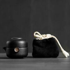 Ceramica nera cinese Gongfu Teiera Tazza di viaggio set da tè