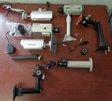 Lot of Assorted Security Cameras w/ Assorted Mounting Brackets AS-IS UNTESTED