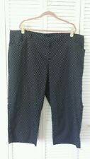 Cleveland Street New size 4X cotton spandex crop black w/ white polka dot pants