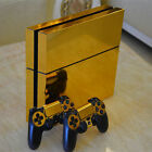 Glossy Gold Decal Skin Sticker Cover For PS4 Playstation 4 Console&Controllers