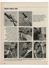 Pubblicità epoca 1972 OSSA TRIAL 250 MOTO MOTOR advert werbung publicitè reklame