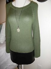 Sexy JOIE Anthropologie Knit Green Sweater Mini Dress Colorblock Faux Leather M