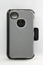 OtterBox Defender Hard Case w/Holster Clip for iPhone 4 iPhone 4S (Gray/White)