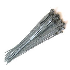 Cable ties Silver-Grey 370mm x 4.8mm pack of 100 wheel trim or std use