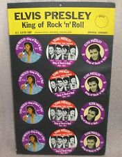 Elvis Presley Buttons store Display 1977 12 vintage Original buttons 12