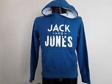 JACK AND JONES MENS BLUE HOODIE TOP SIZE MEDIUM M