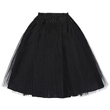 TUTU Knee Length Tulle Women's Skirt Wedding Bridal Petticoat Crinoline S-XL NEW
